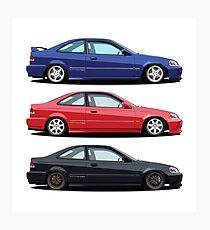 Civic Si and Friends Photographic Print
