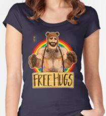 ADAM LIKES HUGS - GAY PRIDE Women's Fitted Scoop T-Shirt