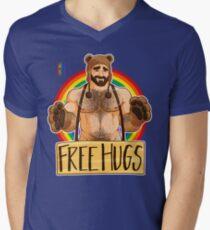 ADAM LIKES HUGS - GAY PRIDE Men's V-Neck T-Shirt