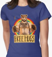 ADAM LIKES HUGS - GAY PRIDE Women's Fitted T-Shirt