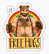 ADAM LIEBT HUGS - GAY PRIDE Sticker