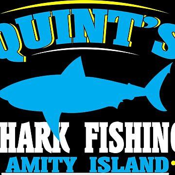 Quint's shark fishing amity island Funny Geek Nerd by fikzuleh