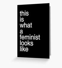 Helvetica Feminism Greeting Card