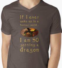 Fantasy Dragon Men's V-Neck T-Shirt