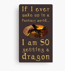 Fantasy Dragon Canvas Print