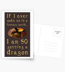 Fantasy Dragon Postcards