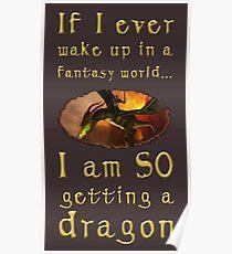 Fantasy Dragon Poster
