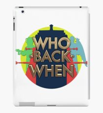 Who Back When - Round Logo iPad Case/Skin