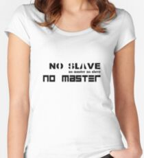 No Slave No Master Women's Fitted Scoop T-Shirt