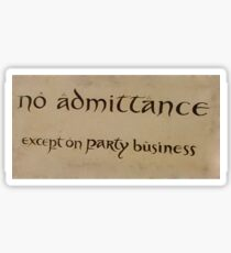 party business Sticker