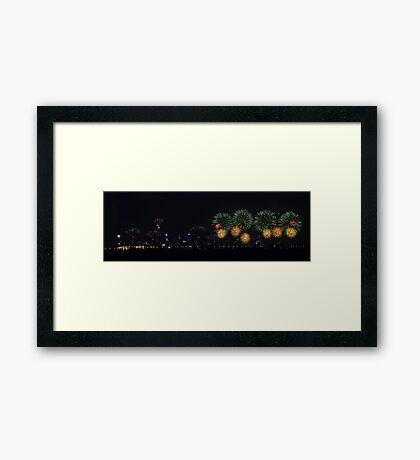 Perth Skyworks 2009  Framed Print