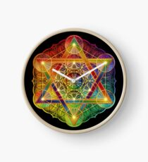 Metatron's Cube with Merkabah and Flower of Life Clock