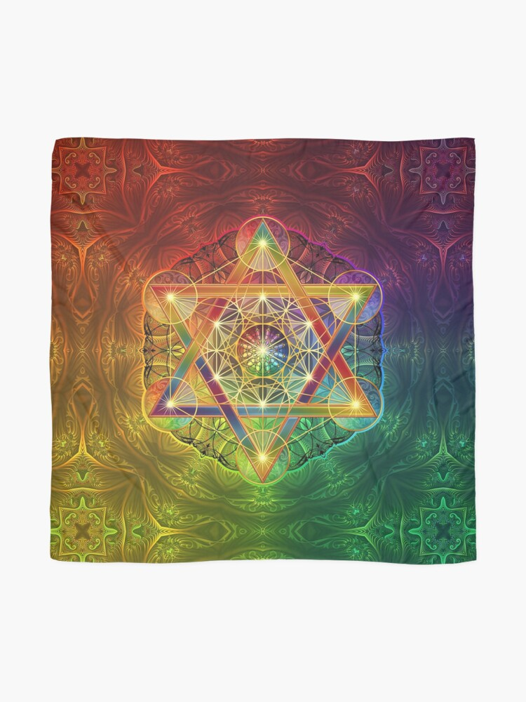 Alternate view of Metatron's Cube with Merkabah and Flower of Life Scarf