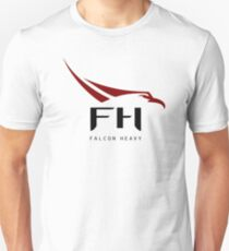 HD Falcon Heavy Logo Unisex T-Shirt