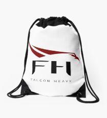 HD Falcon Heavy Logo Drawstring Bag