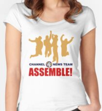 Channel 4 News Team Assemble Women's Fitted Scoop T-Shirt