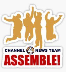 Channel 4 News Team Assemble Sticker