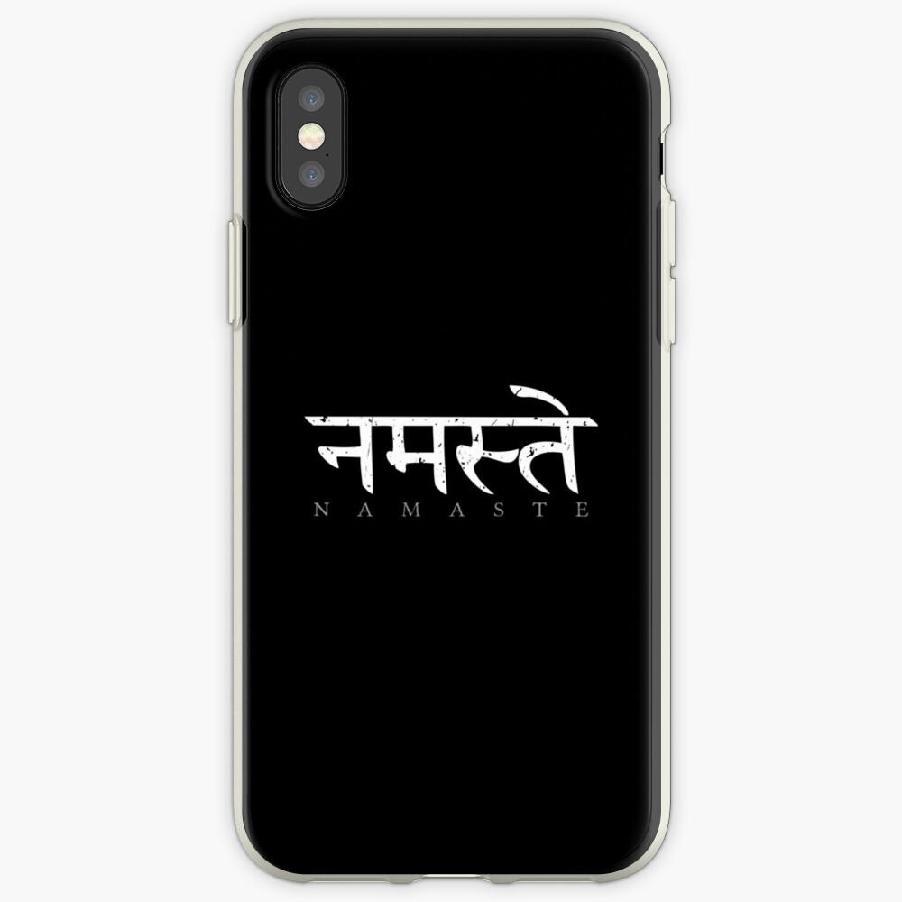 Namaste (Sanskrit written in Devanagari) iPhone Case & Cover