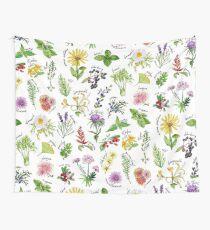 Plants & Herbs Alphabet Wall Tapestry