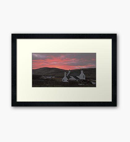 volcanic sky Framed Print