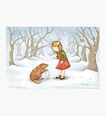 Girl in Snow Photographic Print
