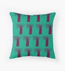 Cojín Diseño baobabs azul