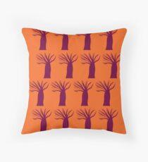 Cojín Diseño baobabs naranja