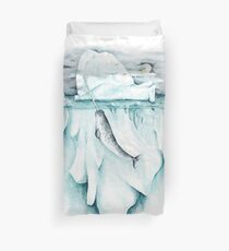 The Norse Unicorn - Narwhal Illustration Duvet Cover