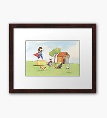 Girl in Cape Framed Print
