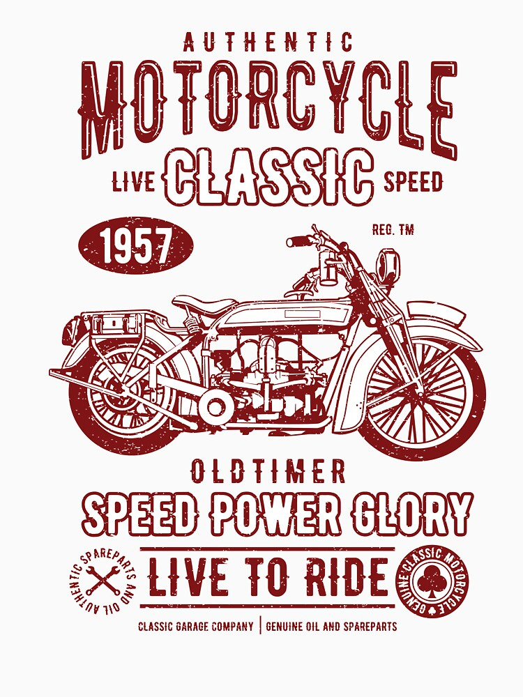 AUTHENTIC MOTORCYCLE LIVE CLASSIC SPEED 1957 OLD TIMER SPEED POWER ...