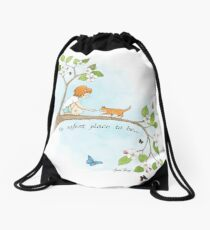 The safest place to be... Drawstring Bag