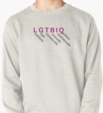 lgtbi, lesbiana, gay, intersexual, transexual, raro Sudadera cerrada