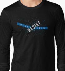 Resist Blue ISIS Long Sleeve T-Shirt