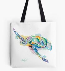 Rainbow Ripple Tote Bag