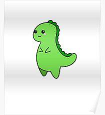 Kawaii Cute T-rex Tyrannosaurus Poster