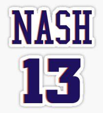 Steve Nash jersey sticker Sticker
