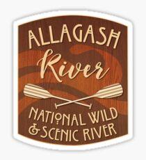 Allagash Wilderness Waterway, National Wild and Scenic River Sticker