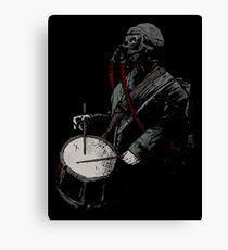 War Drummer Canvas Print