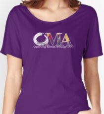 Purple OMA logo Women's Relaxed Fit T-Shirt