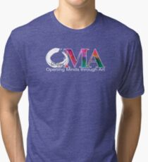Green OMA Logo Tri-blend T-Shirt