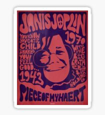 Janis Joplin 1970 concert poster Sticker