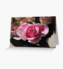 One Pink Line Greeting Card