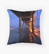 Sand Pumping Jetty Relections  Throw Pillow