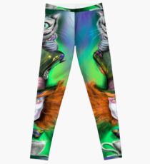 Cheshire Cat & Mad Hatter Alice in Wonderland Leggings