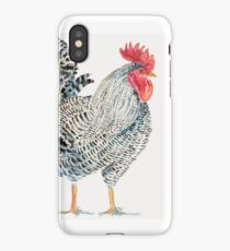 Rooster in Black and White iPhone Case