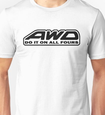 AWD Do It On All Fours (White) Unisex T-Shirt