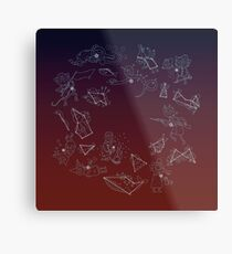 Night in the Woods Constellations Metal Print