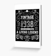Tarjeta de felicitación 1938 presente de cumpleaños - 80 años de edad 80 cumpleaños regalo