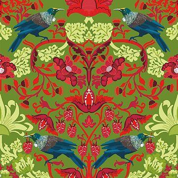 Flowers & Tui - NZ Colours by iskamontero