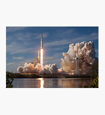 Spacex Falcon Heavy Demo Launch - 60 MegaPixel image Photographic Print
